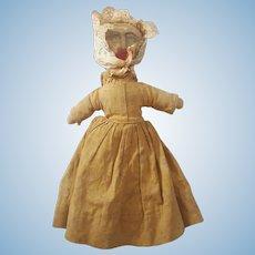 Late 19th C. Super Primitive Folk Art Pioneer Rag Doll