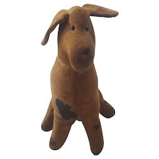 Vintage Primitive Folk Art Spotted Dog Stuffed Toy