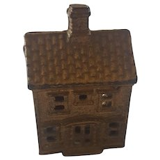 Antique Early 1900's Cast Iron House Still Bank