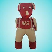 Vintage 1930's-40's Washington State U. Articulated Dog Stuffed Toy