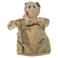 "Vintage Mohair ""Character"" Cat Hand Puppet"