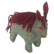 Vintage PA. Folk Art Calico Horse Stuffed Toy or Pin Cushion