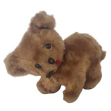 Diminutive Vintage Mohair Standing Teddy Bear with Articulated Head
