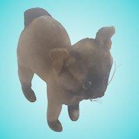 Vintage Kamar Mid-20th C. Mohair Siamese Cat Stuffed Toy