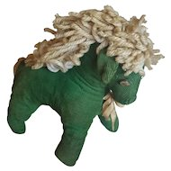 Vintage Primitive Pennsylvania Folk Art Rag Filled Corduroy Horse Stuffed Toy