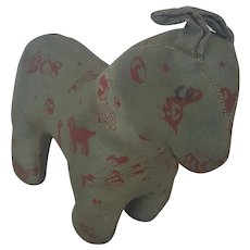Vintage PA. Folk Art Oilcloth Horse Stuffed Toy