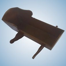 Antique 19th C. Folk Art Hand Dovetailed Walnut Doll Cradle