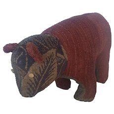 Unique Vintage PA. Folk Art Standing Teddy Bear