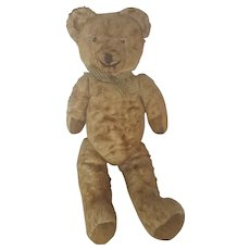 "Sweet Vintage 1930's 16"" Jointed Golden Brown Teddy Bear"