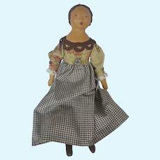 OOAK Primitive Folk Art Papier Mache Doll