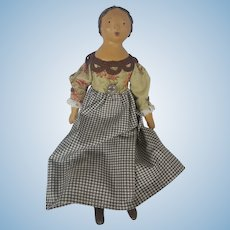 OOAK Primitive Folk Art Papier Mache Doll