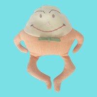 Cute Vintage Folk Art Humpty-Dumpty Beanbag Toy