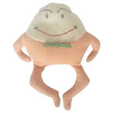 Cute Vintage Folk Art Humpty-Dumpty Beanbag Toy