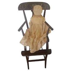 19th C. Handmade Primitive Folk Art Rag Doll