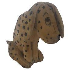 Tiny Vintage 1920's Velveteen Dismal Desmond Dalmatian Dog