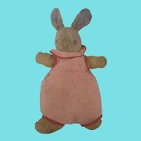 Vintage Depression Era Super Primitive Make-Do Rabbit Stuffed Toy
