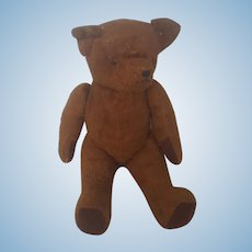 Vintage Jointed Brown Mohair Teddy Bear