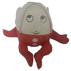 Cute Vintage Red & White Humpty Dumpty Stuffed Toy