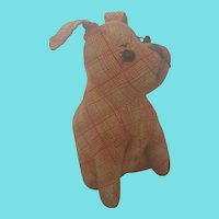Vintage Primitive Depression Era Dog Stuffed Toy