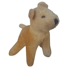 Cute Vintage Painted Mohair Lakeland Terrier Stuffed Toy