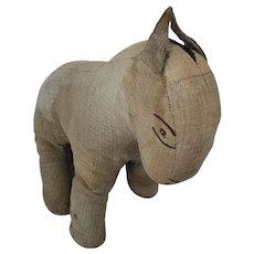 Late 19th C. Primitive Folk Art Horse Stuffed Toy