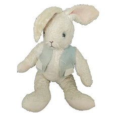 Vintage Ross & Ross White Faux Fur Articulated Rabbit Stuffed Toy
