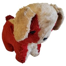 Sweet Vintage Red & White Dog Stuffed Toy