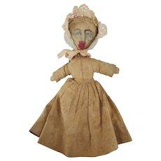 Antique 19th C. Well-Loved Primitive Folk Art Pioneer Rag Doll