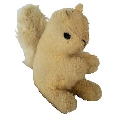 Vintage Depression Era PA. Folk Art Squirrel Stuffed Toy Made of Lambswool