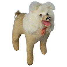 Vintage 1930's-40's White Squeaker Dog Stuffed Toy from my Collection