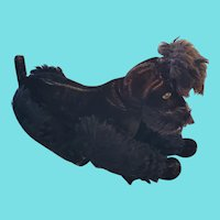 """Large 14"""" Tall Vintage Steiff Articulated Black Poodle w/Ear Button"""