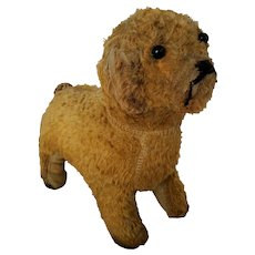 Sweet Vintage 1930's Frowny-Faced Puppy Dog Stuffed Toy