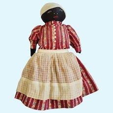 Vintage Black Americana Folk Art Mammy Style Rag Dol