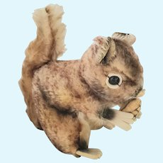 Vintage Mohair, Felt & Velveteen Steiff Squirrel w/Original Button