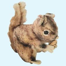 Vintage Mohair, Felt & Velveteen Steiff Squirrel w/Original Button