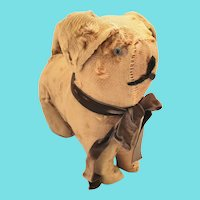 Antique Primitive Golden Brown Dog Stuffed Toy
