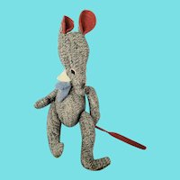 Funky Vintage PA. Amish or Mennonite Folk Art Articulated Mouse Stuffed Toy