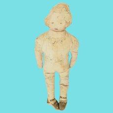 Cute Antique Victorian Lithograph Girl Rag Doll