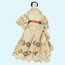 Antique Victorian Make-Do China Head Doll