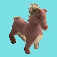 Vintage Folk Art Smiling Horse Stuffed Toy from my Collection