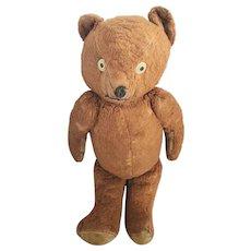 Diminutive Vintage Copper & Tan Mohair Jointed Teddy Bear