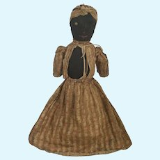 Rare 19th C. Folk Art Stockinette Topsy Turvy Doll from Shenandoah Valley