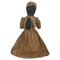 Rare 19th C. Folk Art Stockinette Topsy Turvy Doll from Shenandoah Valley