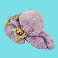 Funky Vintage Lavender & Yellow Easter Rabbit Stuffed Toy from my Collection