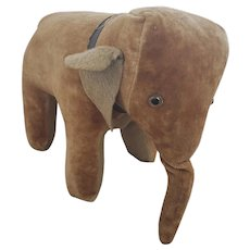 Antique ca. 1920 PA. Velveteen Elephant Stuffed Toy from my Collection