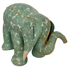 Unique & Large Vintage 1940's Folk Art Elephant Stuffed Toy from my Collection