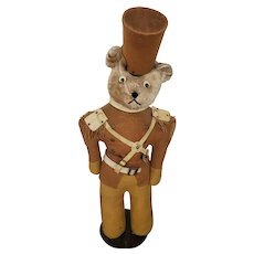 """Vintage Mid 20th C. """"Babes in Toyland"""" Soldier Teddy Bear Store Display"""