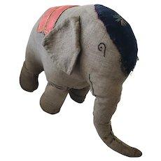 Large Vintage 1920's-30's PA. Mennonite Folk Art Stuffed Elephant