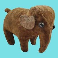 Diminutive Vintage 1920's Velvet & Felt Stuffed Elephant from my Collection