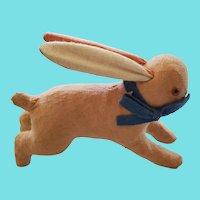 Diminutive Antique ca. 1920 German Pink Flannel Stuffed Bunny Rabbit